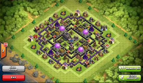 layout level 9 clash of clans top 10 clash of clans town hall level 9 defense base