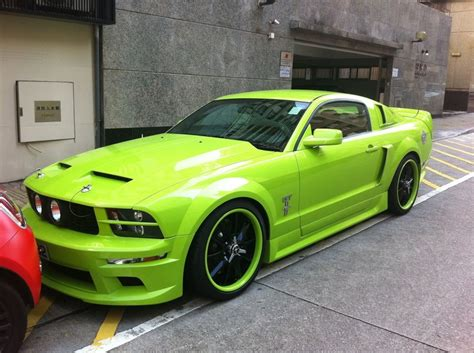 mustang neon neon green mustang future cars