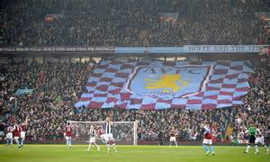 section v football talks back aston villa back caign for safe standing daily mail