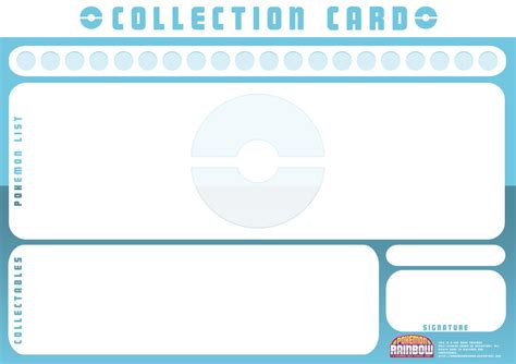 collection card template by ry spirit on deviantart