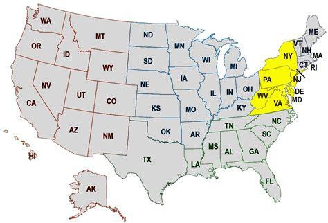us map mid atlantic region mid atlantic region