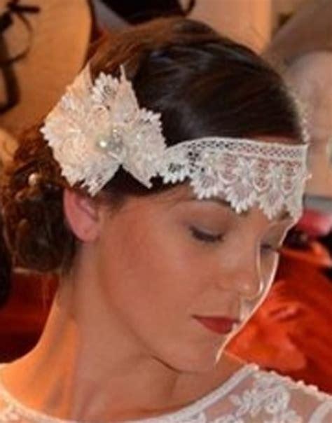 lace headband bridal wear wedding nites