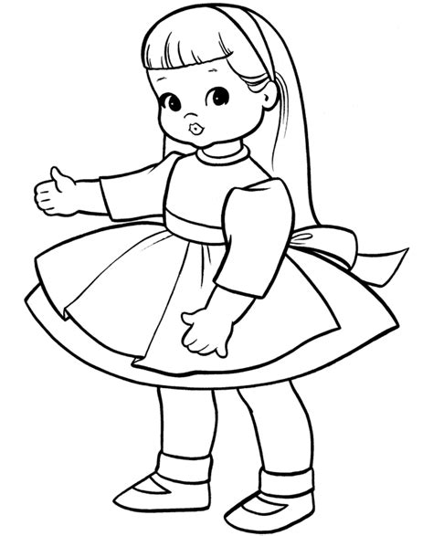 Sketches To Color by Coloring Pictures Of Dolls Image Sketches Galleries