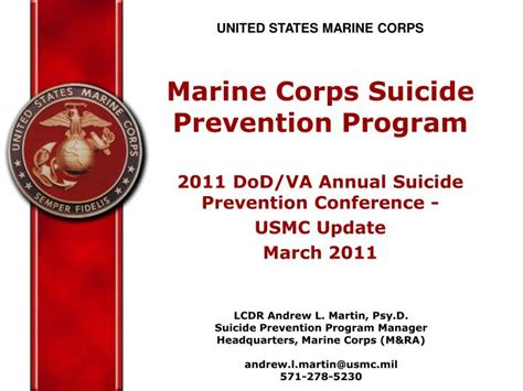 Ppt United States Marine Corps Marine Corps Suicide Prevention Program 2011 Dod Va Annual Marine Corps Powerpoint Templates