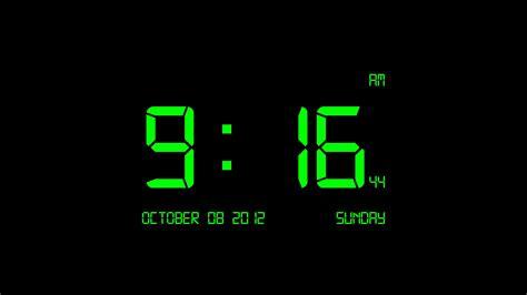 clock wallpaper for windows 10 green black wallpaper hd impremedia net
