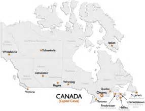 canada capital cities map worldatlas