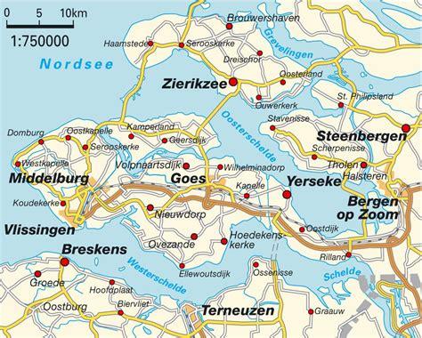netherlands latitude longitude map map zeeland netherlands maps and directions at map
