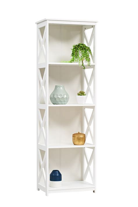 white 4 tier cross shelf from storage box