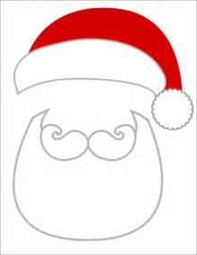 Santa Beard Template by Photo Props Santa Beard And Hat Label