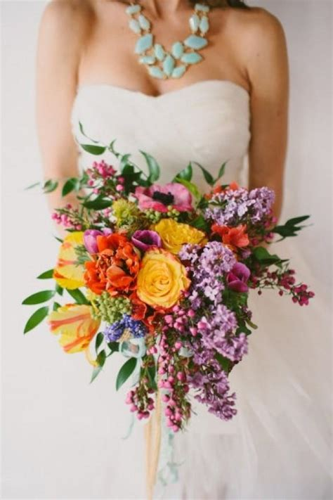 Fresh Flower Wedding Bouquets by Colorful Fresh Flowers And Lilac Wedding Bouquet 1920010