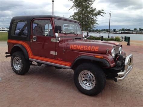1986 Jeep Renegade For Sale Sell Used 1986 Jeep Cj7 Renegade In Sturgeon Bay