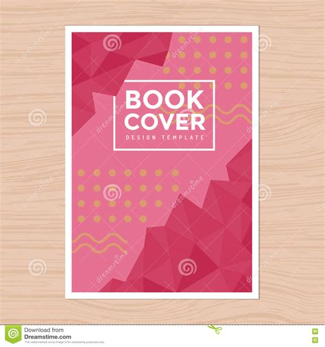 simple book cover template 现代设计书套 poster flyer company公司概况 年终报告在a4大小的设计版面模板 向量例证