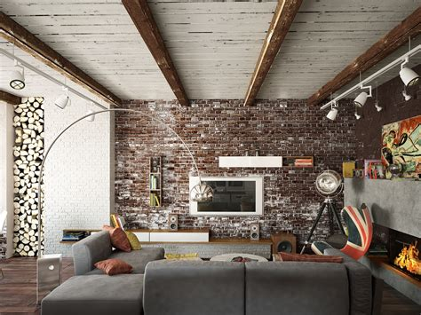 ziegelwand wohnzimmer living rooms with exposed brick walls