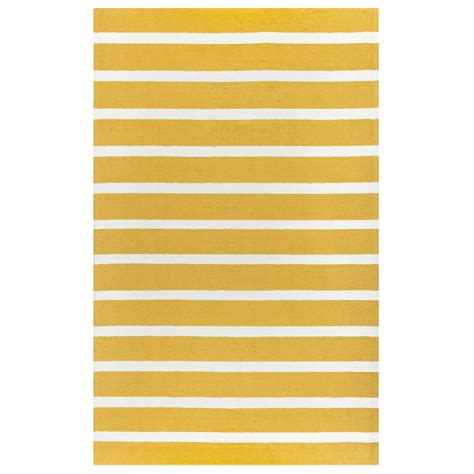 Yellow Striped Outdoor Rug Rizzy Home Azzura Hill Yellow Striped 9 Ft X 12 Ft Indoor Outdoor Area Rug Azhah995100280912
