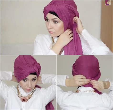youtube tutorial turban pesta tutorial hijab semi turban menggunakan scarf panjang yang