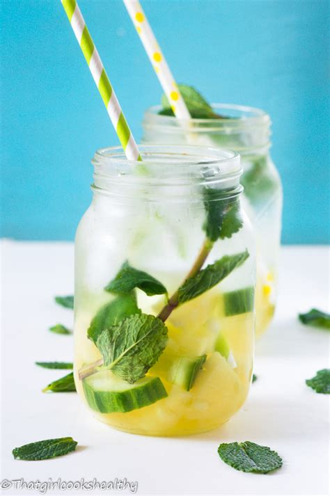 Mint Infused Water Detox by Pineapple Mint Infused Water That Cooks Healthy