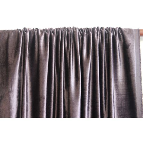 Gray Velvet Curtains Purple Grey Velvet Curtain 52x84 Rod Pocket
