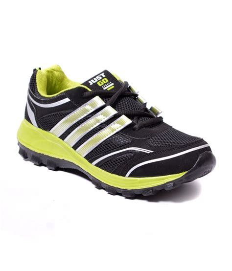 just sports shoes just go black parrot green running sport shoes price in