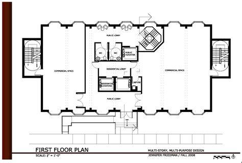 floor plan of commercial building commercial office building plans first floor plan