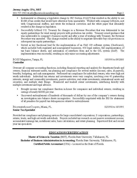 tax director sle resume professional resume writing