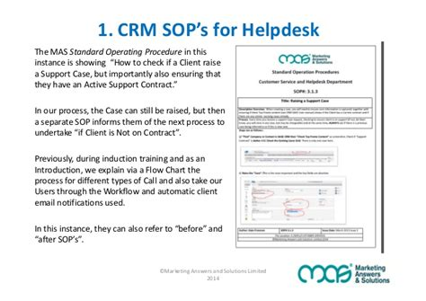 help desk procedures template are sop s the secret to crm adoption success