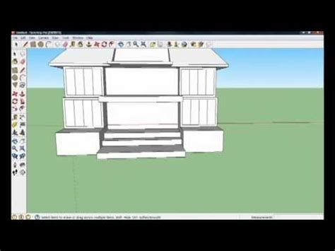 google sketchup house tutorial basic google sketchup 8 house tutorial part 1 4 youtube