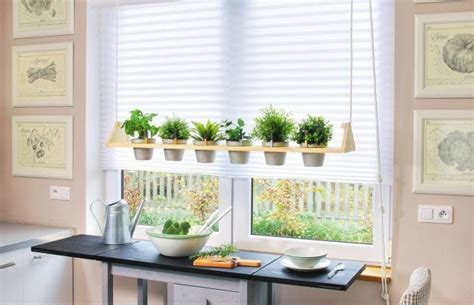 diy kitchen herb garden     hanging container