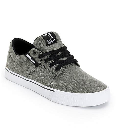 supra stacks vulc ii black wash canvas skate shoes at