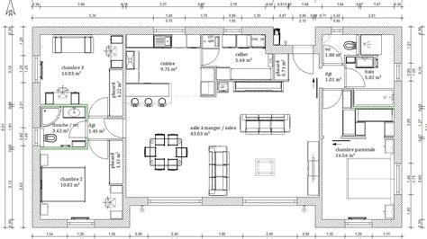 plan maison 騁age 4 chambres plan maison 4 chambres maison moderne