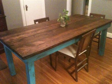 rustic distressed farm table distressed furniture