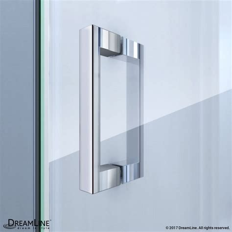 Butterfly Shower Door Dreamline Dl 6130c 01cl Butterfly 36 D X 36 W X 76 3 4 H Sliding Bi Fold Shower Door Shower