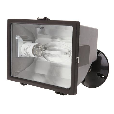 hps light fixture home depot designer s edge 150 watt bronze outdoor flood light with
