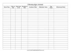 printable fibromyalgia journal