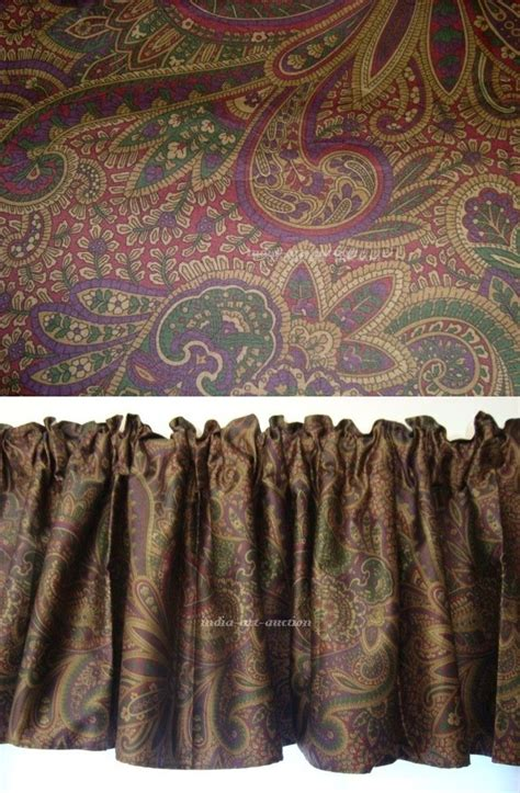 paisley valance curtains window valance m w new ralph lauren bohemian paisley