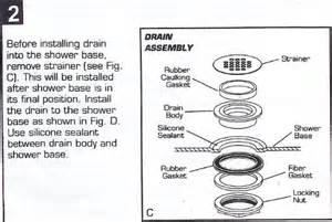 no caulk pvc shower drain