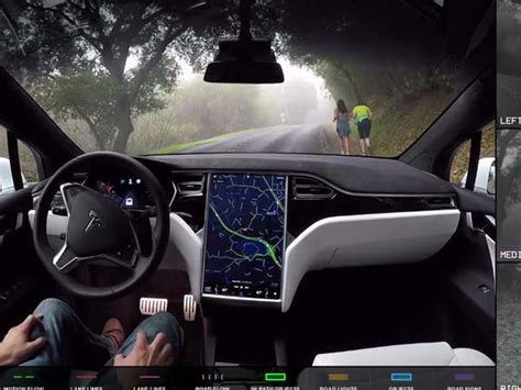 Tesla Car Technology Tesla Releases Demonstrating What Self Driving Cars