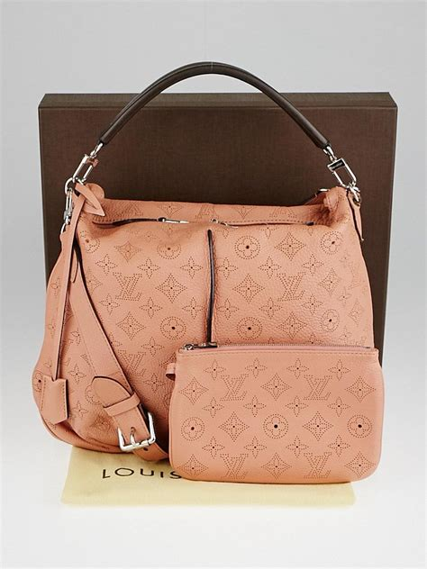 louis vuitton pink monogram mahina leather selene pm bag