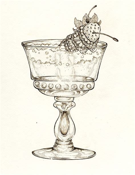 vintage cocktail clipart vintage cocktail illustration by ellie lukova ink