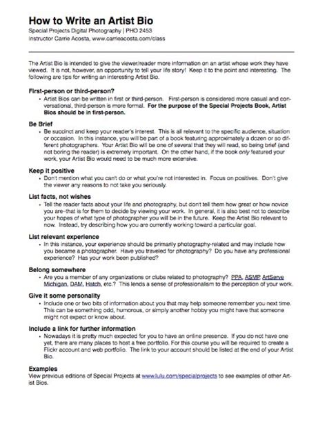 45 Biography Templates Exles Personal Professional How To Write A Will Template
