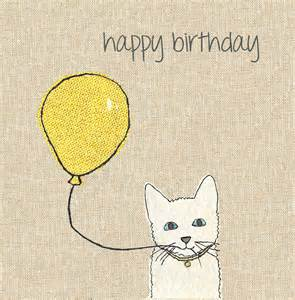 finished cat balloon birthday card karenza paperie