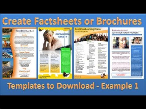 make brochure how to make brochures in microsoft word