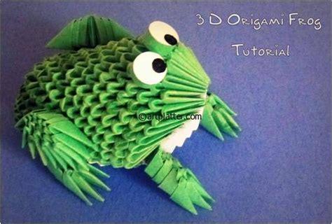 3d Origami Frog - 3d origami frog platter