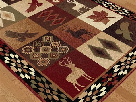 Deer Area Rugs Tayse Rugs Nature Deer Rectangular Area Rug Ta6590rec