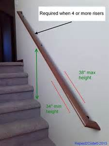 residential code requirement for handrail inspect2code