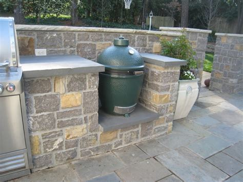 outdoor kitchen with green egg outdoor kitchens and grills patio atlanta by