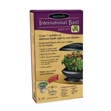 semi di basilico in cucina kit semi basilico per aerogarden