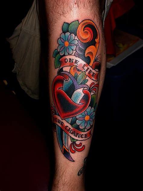 traditional american tattoo dagger tattoos pinterest