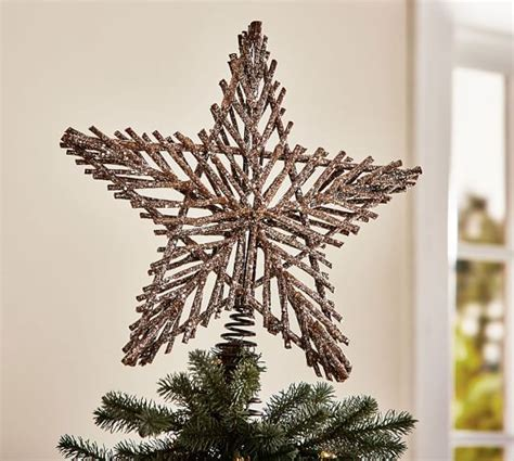 how to make an easy tree topper twig tree topper pottery barn