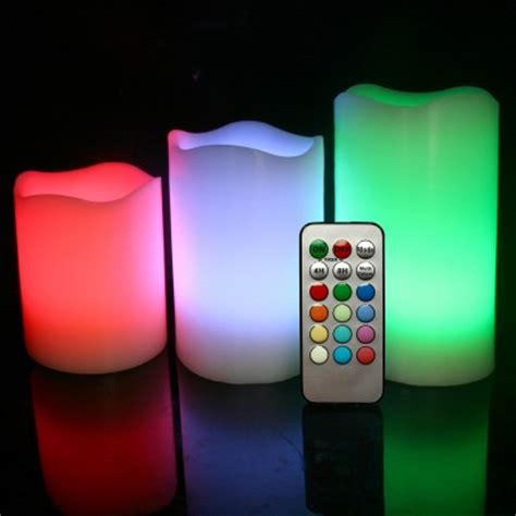 color candles real wax colour changing led candles