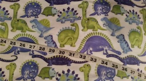 dinosaur flannel fabric for blue green cotton print quilt